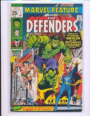 Marvel Feature # 1 - 1st Defenders Neal Adams cover Fine/VF Cond.