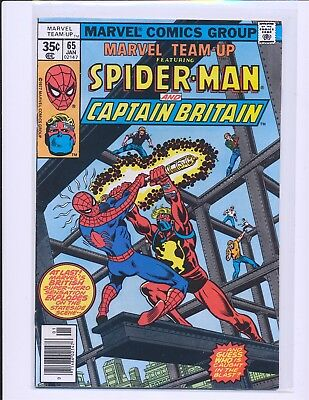 Marvel Team-Up # 65 - 1st U.S. appearance of Captain Britain Fine+ Cond.