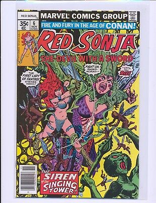 Red Sonja # 6 - Frank Thorne cover & art VF+ Cond.
