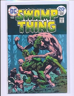 Swamp Thing # 10 - Wrightson cover & art VF+ Cond.