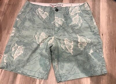 e553b58a00 American Eagle AE Prep Men's Cargo Shorts Palm Tree Leaves Printed Teal  Size 33