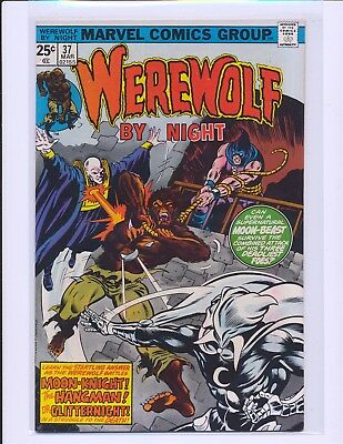 Werewolf By Night # 37 - Moon Knight appearance Fine/VF Cond.