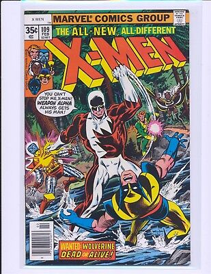 X-Men # 109 - 1st Weapon Alpha / Vindicator VF+ Cond.