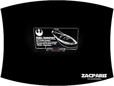 DISPLAY PLAQUE for STAR WARS REBEL TRANSPORT , Models, Lego , etc Clear Acrylic!