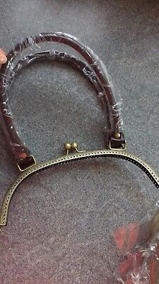 Metal Purse Frame Kiss Clasp Handbag Handle BrassSilver Vintage Bag Making Craft