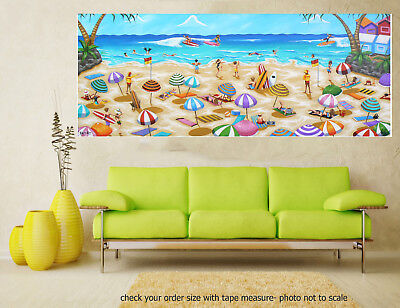 Art Painting Original canvas Print Beach seascape Byron Bay Andy Baker Australia