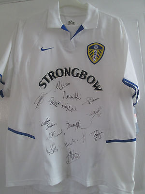 Squad Signed 2002-2003 Leeds United LUFC Home Football Shirt with COA /40720