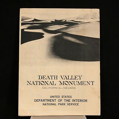1941 Death Valley National Monument – Official Park Service Map