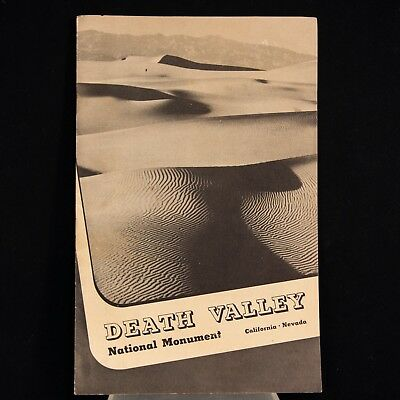 1942 Death Valley National Monument – Official Park Service Guide Booklet