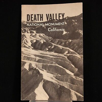 1941 Death Valley National Monument – Official Park Service Guide Booklet