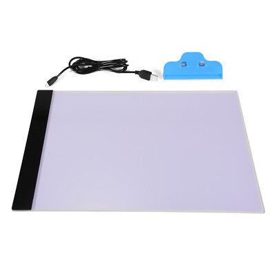 A4 LED Artist Thin Art Stencil Board Light Box Tracing Drawing Board Table AH210