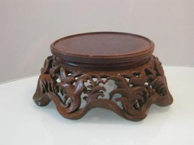 Stunning Antique Chinese Carved Wooden Stand