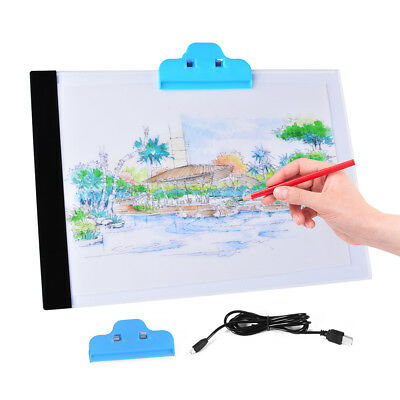 A4 USB LED Art Artist Tattoo Stencil Board Light Tracing Drawing Pad Table AH210