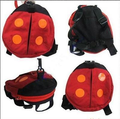 Cute Ladybug & Bat Baby's Backpack Harness Safety Child Toddler Walking Rein 8C