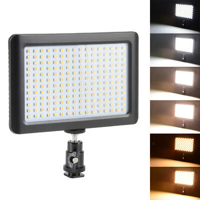 Dimmable 192 LED 1350LM 12W Photo Video Light Lamp Panel para Nikon Camera DC765