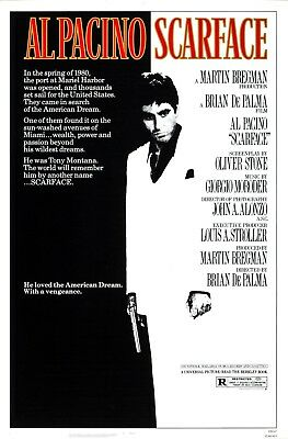 """""""Scarface"""" ..Al Pacino Michelle Pfeiffer ..Classic Movie Poster Various Sizes"""