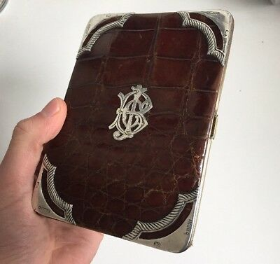 Antique Silver RARE Card Case With Initials JCB J.C. Bamford Excavators Limited