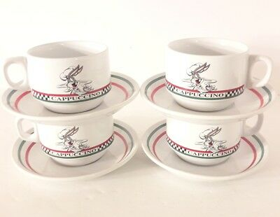 WARNER BROS 1993 ACME HOME WORKS BUGS BUNNY CAPPUCCINO CUPS and Saucers