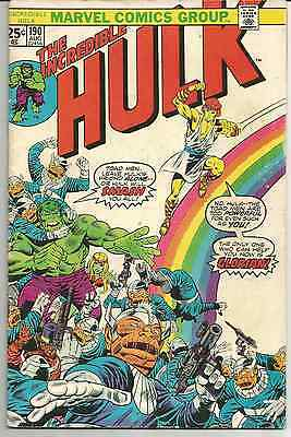 Incredible Hulk #s190 and 196, lot of 2, Marvel Comics, Bronze Age, VG