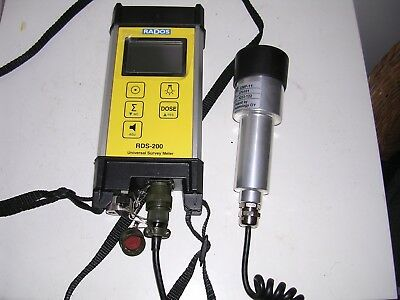 Ex Mod Rados Rds - 200 Universal Survey Meter Geiger Counter State Of The Art