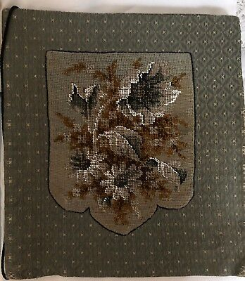 Victorian Antique Tapestry & Beadwork Stationery Folder Cover