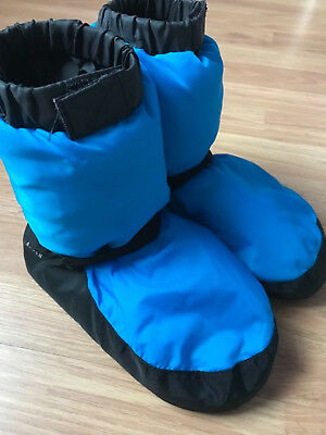 Bloch Adult Warmup Booties Blue Girl Child Dance Boots  Size XS 3 4 5