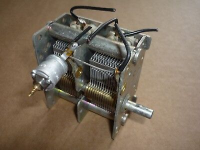 Air Spaced Variable Capacitor 2x 546 pF double gang - Vintage Valve Radio