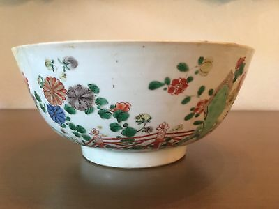 Chinese KANGXI 17th Century Bowl Floral Decoration Famille Verte