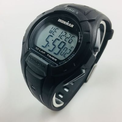 Men's Timex Full Size Ironman Essential 10 Black Resin Watch TW5K94000