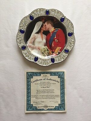 William and Kate A Royal Kiss Collector Plate by The Bradford Exchange