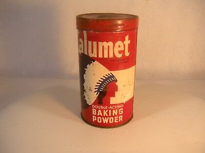Vintage Calumet Double-Acting Baking Powder Tin 1 lb. size As defined by Wis.Leg