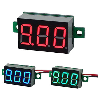 "DC 4.5-30V 0.36"" LED Display 3 Digits Voltmeter Two Line Auto Shift Voltmeter"
