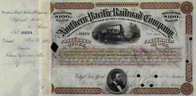 Northern Pacific Railroad Ashland Seattle Portland 1881 Historische Wertpapiere