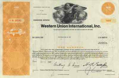 Western Union WUI 1967 Rochester Hiram Sibley Mississippi Valley First Data 100
