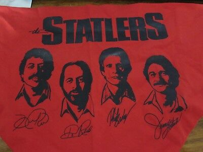 VINTAGE 1982 Statler Brothers neck kerchief scarf tie Harold, Don, Phil, Jimmy