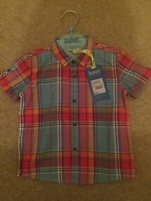 Baker by Ted Baker Baby Boy Check Shirt Age 12-18 Months RRP £16