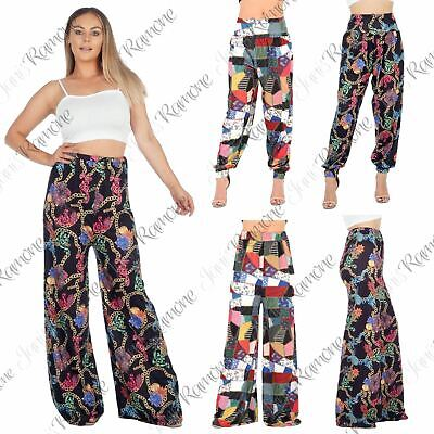 New Womens Patch Work Full Length Harem Alibaba Hippie Leggings Palazzo Trousers