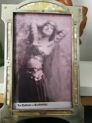 Beautiful , Rare And Original Art Deco Silverplated Marked Photo Frame