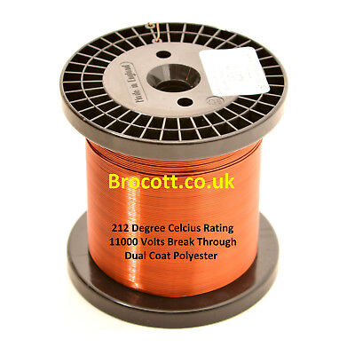 0.224mm ENAMELLED COPPER WIRE, MAGNET WIRE, COIL WIRE WINDING WIRE - 1KG SPOOL