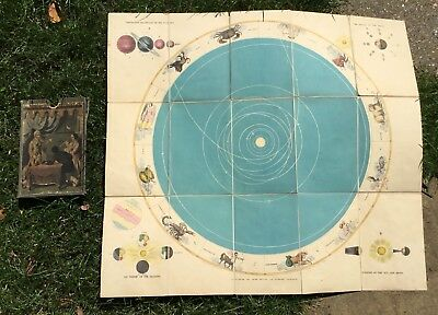 Betts C.1850 lithograph astrology star chart board game Astronomical Recreation