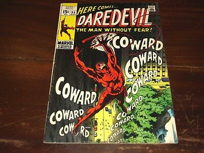 Marvel Daredevil 55  7.0 To 8.0 Ready For Cgc !!!!!!!!!!
