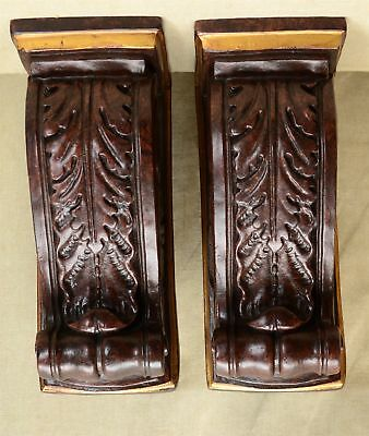 """2 Matching Vintage Neo-Classic 10 7/8"""" CORBELS, made by Murobello Charleston, SC"""