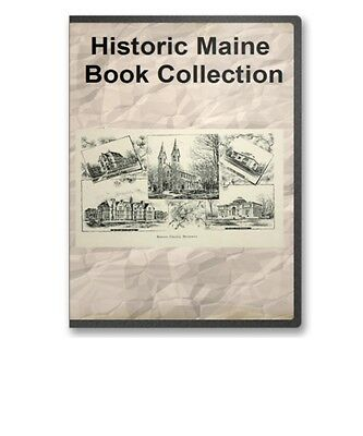 Maine State + County Family Tree History Pioneer Genealogy Book Set - B299