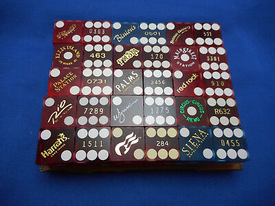 30 Casino Dice in 15 Different Pairs with Matching Numbers - Lot B11