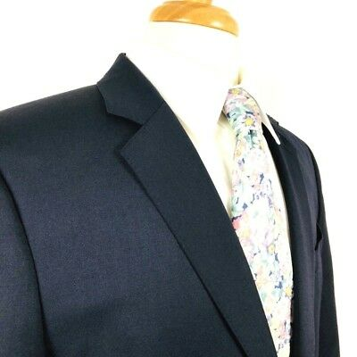 c214676c1377f7 Express Mens Size 40R Sports Coat Blue 2 Button Fully Lined Double Vent  Blazer