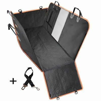 Dog Car Seat Cover Hammock Waterproof with Side Flaps for Pet Dog Cat Truck SUV