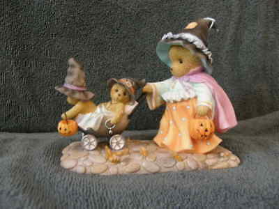 Cherished Teddies GWYNETH 4034588 HALLOWEEN WITCH PUSHING STROLLER MIB