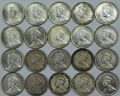 20x 1935 Canadian 80% Silver Dollar Lot Roll Canada $1 Includes Several Unc P3R