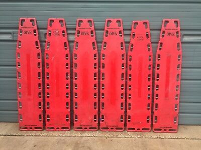 Lot Of 6 Najo 6FT Red BACKBOARD - FERNO X RAY translucent