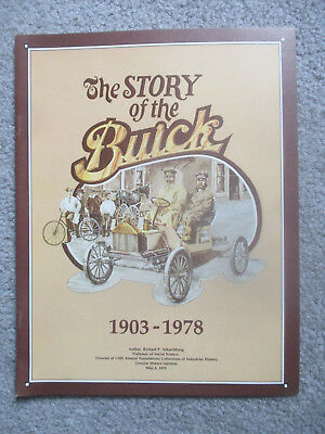 The Story of Buick 1903 1978 History Brochure Anniversary Sales Booklet Pamphlet